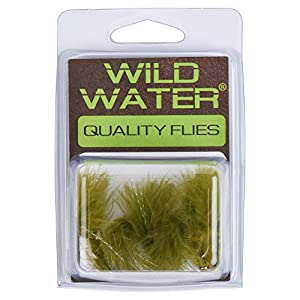 Wild Water Bead Head Olive Wooly Bugger, Size 10, Qty. 6
