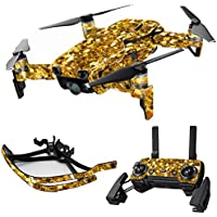 MightySkins Skin for DJI Mavic Air Drone - Gold Chips   Max Combo Protective, Durable, and Unique Vinyl Decal wrap cover   Easy To Apply, Remove, and Change Styles   Made in the USA