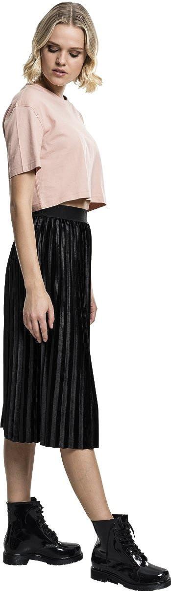 Urban Classics Ladies Velvet Plisse Skirt Gonna Donna
