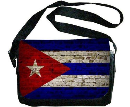 キューバ国旗レンガ壁デザインメッセンジャーバッグ   B00F1YCF6W