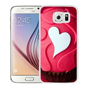 NEW Unique Custom Designed Samsung Galaxy S6 Phone Case With Heart Love Shaped Desert Cake_White Phone Case