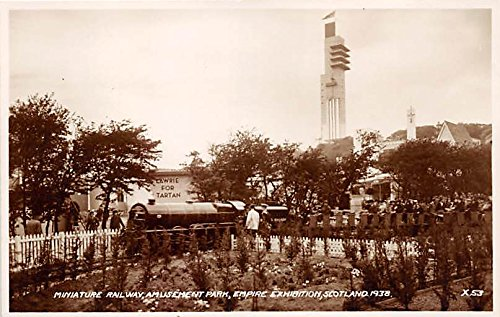 Miniature Railway, Amusement Park, Empire Exhibition Scotland 1938 Postcard Post Card