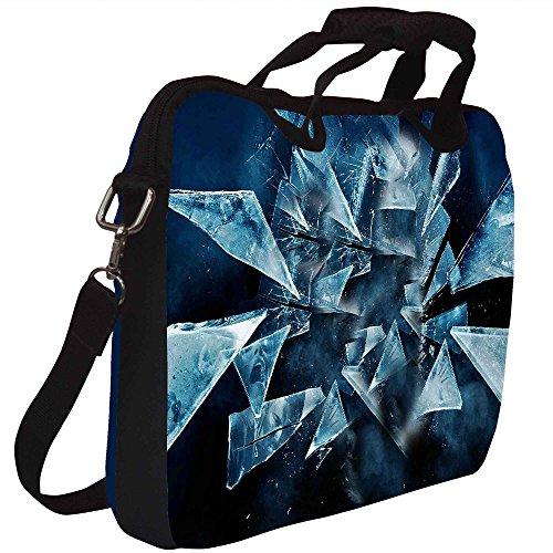Snoogg dunkle Szenen in der Shattered Glass 2618 Gedruckt Notebook-Tasche mit Schultergurt 15 bis 15,6 Zoll