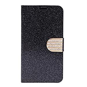LHY Samsung S5 I9600 compatible Solid Color Plastic/PU Leather Full Body Cases , Silver