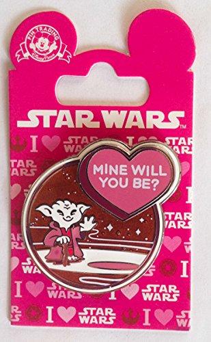 Disney Pin 112528 Yoda Valentine - Mine Will You Be? Star Wars Pin