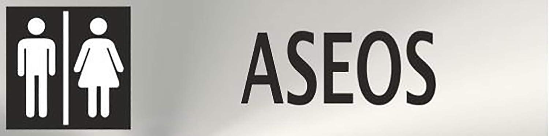 MovilCom® - Señal de acero inoxidable ASEOS 200X50mm señal informativa (ref.RD707008)