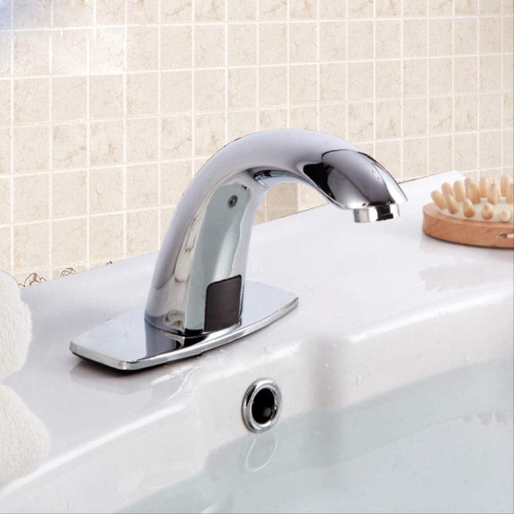 Chapado de inducción de cobre completo A 1,Grifo de Lavabo Cascada Grifo para Baño Monomando Grifería Cromado Plateado con de Agua Inoxidable Larga Durabilidad: Amazon.es: Bricolaje y herramientas