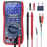 AstroAI Digital Multimeter TRMS 6000 Counts Volt Meter Manual and Auto Ranging, Measures Voltage Tester, Red