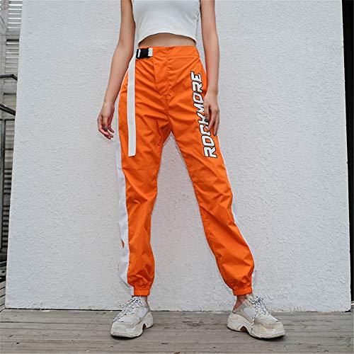 Sijux High Femmes Casual Pantalon Pour Harlan Hip Hop Estampé Taille Sarouel Orange rrBqpax