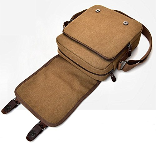 Seasons Canvas Llxy Brown Casual Bag Shoulder All Bags Men's For ppwfqT8x