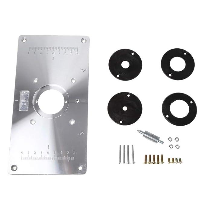 ZJL220 Placa de inserción de Mesa de fresadora de Aluminio con 4 ...