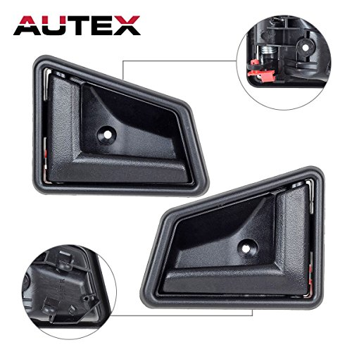 AUTEX 2pcs Interior Door Handle Front/Rear Left Right Driver Passenger Side Compatible with 1989 1990 1991 1992 1993 1994 1995 1996 1997 1998 Suzuki Sidekick Geo Tracker 1998 Chevy Tracker SZ1353104