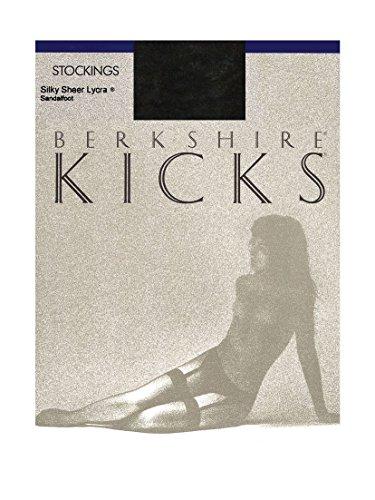 Berkshire Kicks Silky Sheer Stockings - Sandalfoot - C/D - Fantasy Black - Berkshire Sheer Stockings
