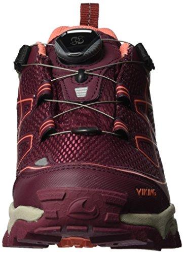 Viking Wine Wanderhalbschuhe Trekking Damen Coral Boa GTX IV Rot amp; Anaconda rW0rPnCwq