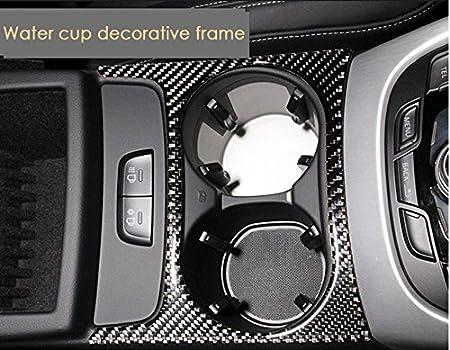 Caution Light Frame Cover Carbon Fiber Interior Decoration Decal Frame Cover Trim Sticker ABS SLine Quattro for Audi Q5 First Generation B8 Typ 8R 2008-2017