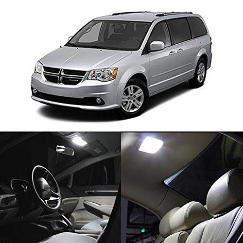 Partsam 2008-2015 Dodge Grand Caravan White Interior LED Package Kit + License Plate Light (11 Pieces)