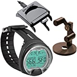 Cressi Leonardo Dive Computer, Scuba Diving Instrument w/Download Cable Watch Stand GupG Reg Bag