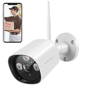 Apeman - Cámara de vigilancia para Exteriores (1080P, inalámbrica, Impermeable, función de visión Nocturna, detección de Movimiento, Compatible con ...