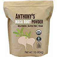 Anthony's Organic Maca Root Powder Gelatinized (1lb), Gluten-Free, Non-GMO