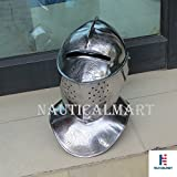 Medieval Closed Helm Helmet Steel Wearable Costume Armor - adult reenactment