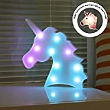 DELICORE Color Changeable Unicorn Marquee Signs Unicorn Party Supplies, Fantasy Themed Wall Decor Desk Table Lamp Gift for Child Kids Baby Girls Bedroom Birthday (Unicorn Head – Colorful) For Sale