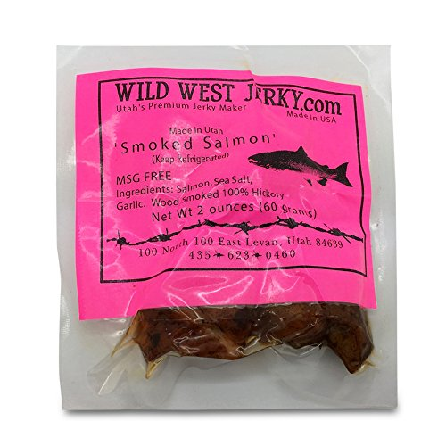 BEST Fresh Wild Caught King Smoked Salmon Tasty Savory Deliciousness 2 OZ. Jerky – Natural Flavoring - Buy Multiple Packs and Save! (Smoked Salmon, Smoked Salmon 1 Pack)