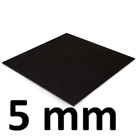 ACRYLIC sheet Black (All sizes Available - Cut-To-Size) (5 x