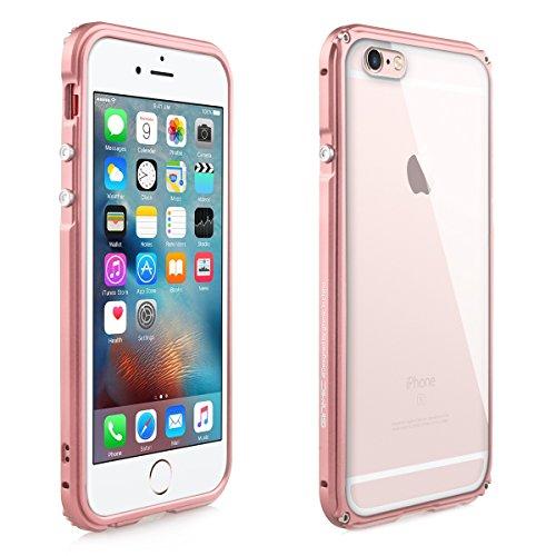 Alienwork Schutzhülle für iPhone 6 Plus/6s Plus Stoßfest Hülle Case Bumper Aluminium rose gold AP6SP10-03