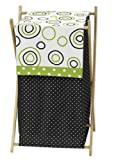 Sweet Jojo Designs Baby/Kids Clothes Laundry Hamper for Spirodot Lime and Black Bedding