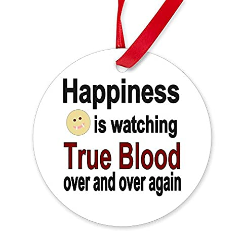 CafePress - Happiness Is Watching True Blood - Round Christmas Ornament (True Blood Gifts)