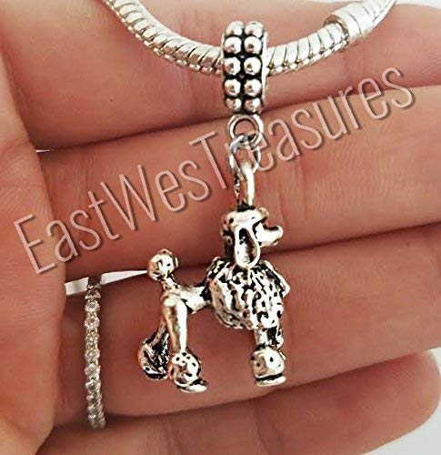 Poodle Dog Charms Pendant-for charm bracelet and chain necklace