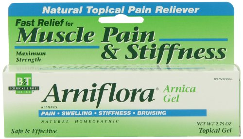 Boericke & Tafel Arniflora Arnica Natural Topical Pain Reliever Gel, Maximum Strength 2.75oz (pack of 2)