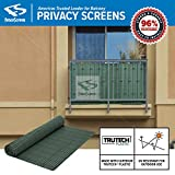 Fenpro Balcony Privacy Screen PVC Slat Roll for Apartment Balcony Privacy Screen (Green) Review
