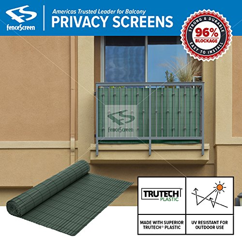 (Fenpro Balcony Privacy Screen PVC Slat Roll for Apartment Balcony Privacy Screen (Green))