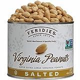 FERIDIES Salted Super Extra Large Virginia Peanuts - 40oz Tin