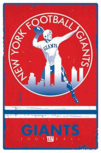 - Trends International New York Giants Retro Logo Wall Posters, 22