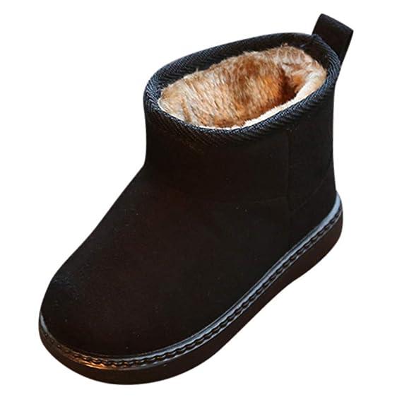 YanHoo Zapatos de otoño e Invierno Botas de Nieve para niños pequeños bebés bebés cálidos sólidos