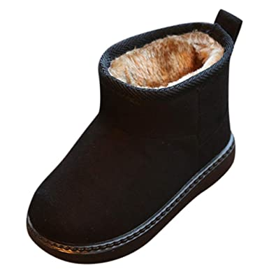 1952b77c8 Toddler Children Baby Girls Snow Boots Winter Warm Kids Boys Casual Flock  Anti-Slip Shoes