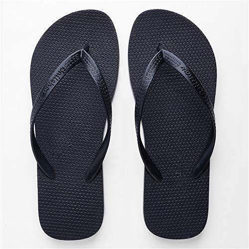 Wangcui Couleur Taille EU Unisexe Rose De Pantoufles 42 Couple Tongs Chaussures Noir Antidérapant Baskets v7qrx86v