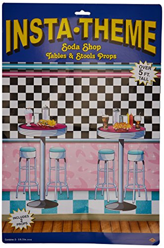 Soda Shop Tables & Stools Props Party Accessory (1 count) (2/Pkg)