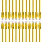 GearIT 24-Pack, Cat 6 Ethernet Cable Cat6 Snagless Patch 4 Feet - Snagless RJ45 Computer LAN Network Cord, Yellow - Compatible with 24 48 Port Switch POE Rackmount 24port Gigabit