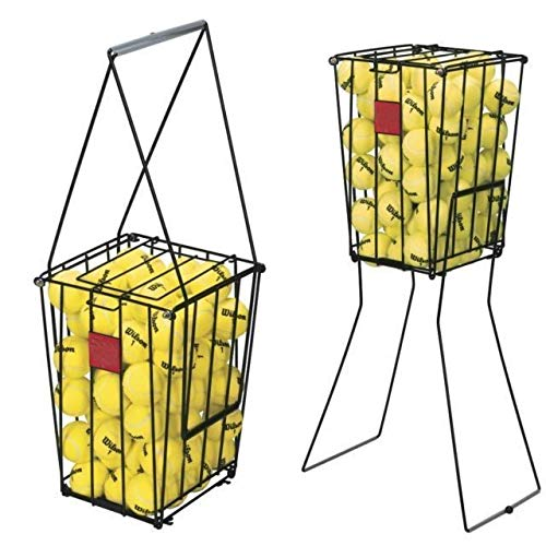 AVGDeals Portable Tennis Ball Basket Pick up Hopper Holds 75 Balls Compact Storage New -