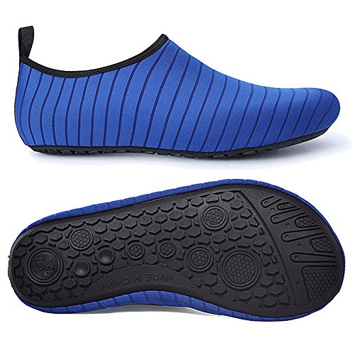 Bmeigo Water Shoes, Adult Kids Aqua Shoes Barefoot Beach Socks Quick Dry for Swimming Surf Yoga Boating Diving Pool Blue