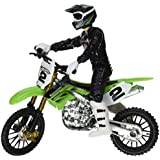 Hot Wheels Moto X No.2 Rider and Green Bike Figure, Black