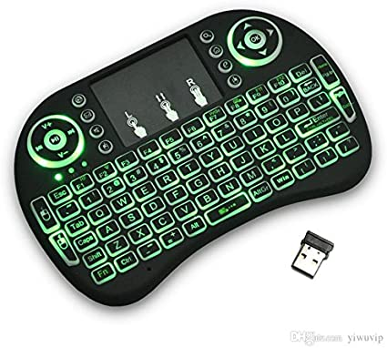Black Wireless Mini Keyboard /& Mouse Easy Remote Control for Samsung LG 55SJ950V 55 Smart TV
