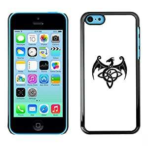 For Apple iPhone 5C Case , Decal Monster Ink Black White - Diseño Patrón Teléfono Caso Cubierta Case Bumper Duro Protección Case Cover Funda