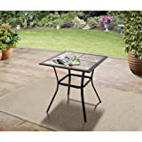 Mainstays Heritage Park 27'' x 27'' Patio Bistro Table, Matte Espresso Finish