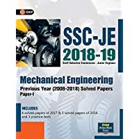 SSC JE Mechanical Engineering for Junior Engineers Previous Year Solved Papers (2008-18),  2018-19 for Paper I