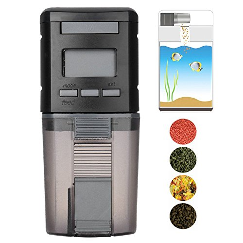 Aquarium Fish Feeder Automatic Fish Feeders Auto Fish Food Timer Feeder for Fish Tank … (C) (Fish Food Feeder Timer)