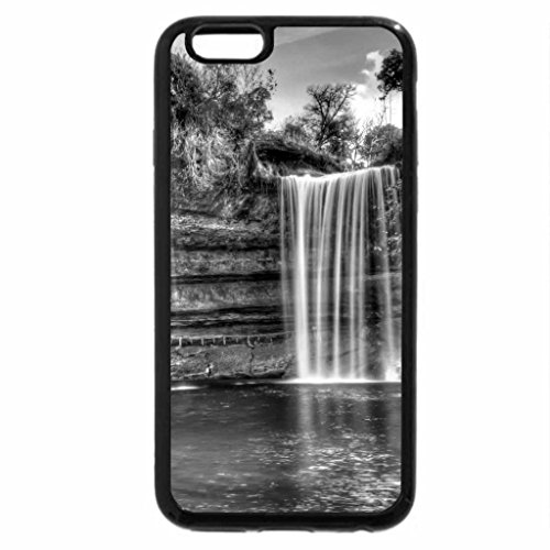iPhone 6S Case, iPhone 6 Case (Black & White) - Canyon Waterfalls